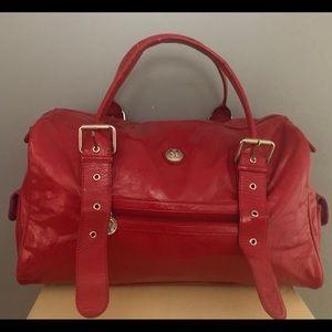 Rare hot pink Lululemon patent look podium bag